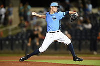 Charlotte Stone Crabs pitcher Parker Markel (32) delivers a pitch during a game against the Bradenton Marauders on April 4, 2014 at Charlotte Sports Park in Port Charlotte, Florida.  Bradenton defeated Charlotte 9-1.  (Mike Janes/Four Seam Images)