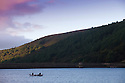 02/10/16 <br /> <br /> After a cold night fishermen try their luck from a boat on Ladybower Reservoir in the Derbyshire Peak District this morning. <br /> <br /> All Rights Reserved: F Stop Press Ltd. +44(0)1773 550665   www.fstoppress.com
