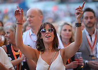 Pictured: Fabs inside the stadium Saturday 18 June 2016<br /> Re: Lionel Richie, All The Hits concert at the Liberty Stadium, Swansea, Wales, UK