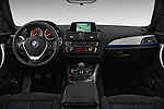 Straight dashboard view of a 2012 - 2014 BMW 1-Series 118d M Sport 3 Door Hatchback 2WD.