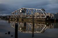 Wishkah River Train Swing Bridge, Aberdeen, Washington State