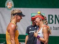 Paris, France, 1 June, 2017, Tennis, French Open, Roland Garros, Women's doubles: Kiki Bertens (NED) / Johanna Larsson (SWE) (R)<br /> Photo: Henk Koster/tennisimages.com