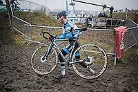 Gianni Siebens (BEL/U23/Marlux-Napoleon Games)<br /> <br /> U23 men's race<br /> CX Superprestige Noordzeecross <br /> Middelkerke / Belgium 2017