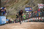 Egan Bernal (COL) Ineos Grenadiers on the final gravel climb to win Stage 9 of the 2021 Giro d'Italia, running 158km from Castel di Sangro to Campo Felice (Rocca di Cambio), Italy. 16th May 2021.  <br /> Picture: LaPresse/Marco Alpozzi | Cyclefile<br /> <br /> All photos usage must carry mandatory copyright credit (© Cyclefile | LaPresse/Marco Alpozzi)