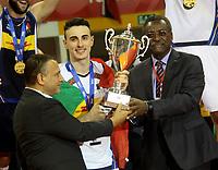 Tunis, Tunisie, le 30 août 2019 - L'Italie incroyable s'est avérée trop puissante pour la Russie et a bouclé une finale palpitante au Championnat du monde FIVB des moins de 19 ans de la FIVB avec un 3-1 (26-24, 21-25, 25-19, 25) -18) gagne la finale ici vendredi soir. PHOTO : Agence Quebec Presse - Jdidi Wassim