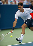 Roger Federer (SUI) wins the semifinal at the Western & Southern Open in Mason, OH on August 18, 2012.