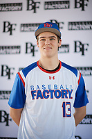 Alexander Forry (13) of Livonia Franklin in Livonia, Michigan during the Baseball Factory All-America Pre-Season Tournament, powered by Under Armour, on January 12, 2018 at Sloan Park Complex in Mesa, Arizona.  (Zachary Lucy/Four Seam Images)