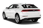 Car pictures of rear three quarter view of a 2019 Audi q8 Premium Plus 5 Door SUV angular rear