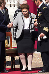 01.10.2012. The Spanish Royal Family, King Juan Carlos, Queen Sofia, Prince Felipe, Princess Letizia and Princess Elena attend the imposition of collective Distinguished Cross San Fernando Al Banner Armored Cavalry Regiment ´Alcántara´ No. 10 in the Royal Palace in Madrid, Spain. In the image Duchess of Soria, Margarita de Borbon (Alterphotos/Marta Gonzalez)