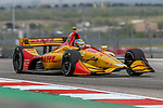Andretti Autosport driver Ryan Hunter-Reay (28) of United States in action during the practice round at the Circuit of the Americas racetrack in Austin,Texas.