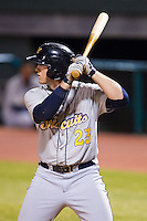 Jeff Malm (23) of the Montgomery Biscuits at bat against the Chattanooga Lookouts at AT&T Field on July 24, 2014 in Chattanooga, Tennessee.  The Biscuits defeated the Lookouts 6-4. (Brian Westerholt/Four Seam Images)