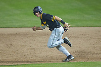 Luke Drumheller (4) of the Appalachian State Mountaineers takes off for second base during the game against the Charlotte 49ers at Atrium Health Ballpark on March 23, 2021 in Kannapolis, North Carolina. (Brian Westerholt/Four Seam Images)