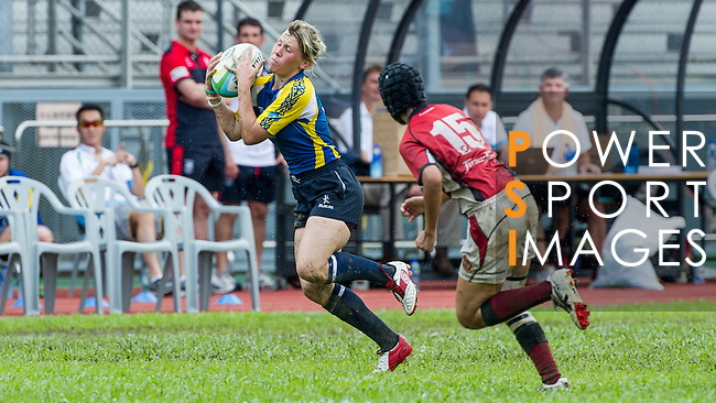Hong Kong plays Kazakhstan during the HKRFU A4N 2014 on May 21, 2014 at the Aberdeen Sport Ground in Hong Kong, China. Photo by Chung Yan / Power Sport Images