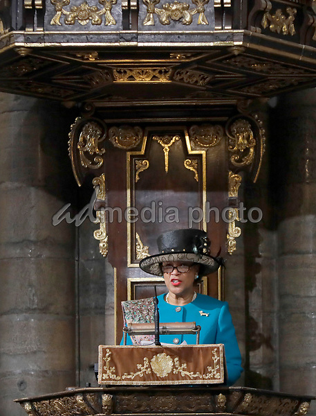 12 March 2018 - Commonwealth Secretary General Patricia Scotland, Baroness Scotland of Asthal at the Commonwealth Service held at Westminster Abbey in London on Commonwealth Day. Photo Credit: ALPR/AdMedia