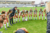 team OHL pictured before a female soccer game between Eendracht Aalst and OHL on the 13 th matchday of the 2020 - 2021 season of Belgian Scooore Womens Super League , Saturday 6 th of February 2021  in Aalst , Belgium . PHOTO SPORTPIX.BE   SPP   STIJN AUDOOREN