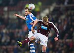 Hearts v St Johnstone.....05.03.13      SPL.Liam Craig and Fraser Mullen.Picture by Graeme Hart..Copyright Perthshire Picture Agency.Tel: 01738 623350  Mobile: 07990 594431