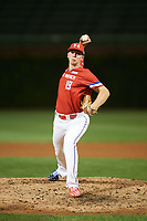 Matt Rudis (19) of Madisonville High School in Madisonville, Texas delivers a pitch during the Under Armour All-American Game presented by Baseball Factory on July 29, 2017 at Wrigley Field in Chicago, Illinois.  (Mike Janes/Four Seam Images)