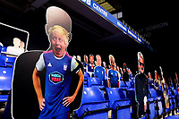 13th September 2020; Portman Road, Ipswich, Suffolk, England, English League One Footballl, Ipswich Town versus Wigan Athletic; A picture of Prime Minister Boris Johnson is seen in the stands