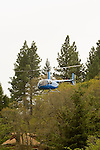Helicopter in the Columbia River Gorge, Oregon