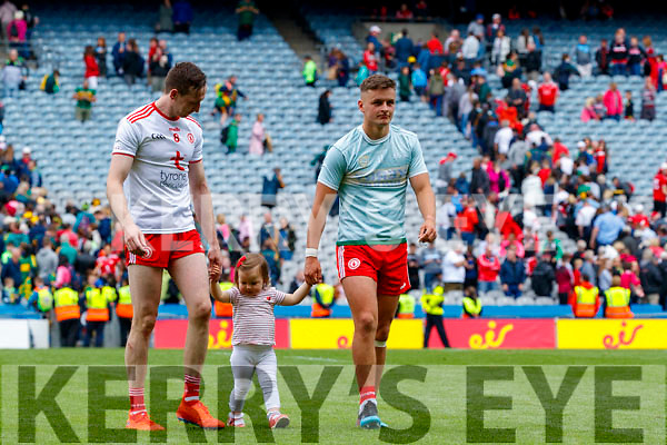 celebrate after the All Ireland Senior Football Semi Final between Kerry and Tyrone at Croke Park, Dublin on Sunday.