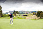 Pic Kenny Smith...... Tel 07809 450119.Johnnie Walker Championship, PGA Course Gleneagles, Day 2..Marc Warren putts out on the 4th
