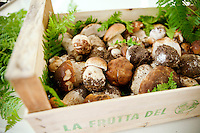Cèpes mushrooms, picked from the wild in Italy, are delivered to restaurant Mirazur, Menton, France, 18 September 2013