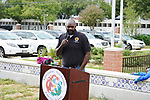 Houston Vice Mayor Pro-Tem Jerry Davis speaks at the Dragon and Phoenix Spark Park dedication ceremony at Mandarin Immersion Magnet School on Oct. 27, 2017.