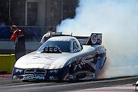 Sept. 23, 2012; Ennis, TX, USA: NHRA funny car driver Jack Beckman during the Fall Nationals at the Texas Motorplex. Mandatory Credit: Mark J. Rebilas-