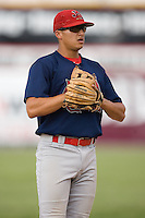 Johnson City third baseman Nicholas Vera (9) at Hunnicutt Field in Princeton, WV, Friday, August 10, 2007.