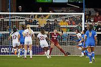 SAN JOSE, CA - DECEMBER 6: Stanford Cardinal goalkeeper Katie Meyer #19 during a game between UCLA and Stanford Soccer W at Avaya Stadium on December 6, 2019 in San Jose, California.