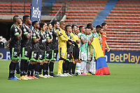 MEDELLIN - COLOMBIA, 02-05-2021: Atlético Nacional y La Equidad en partido por los cuartos de final vuelta de la Liga BetPlay DIMAYOR I 2021 jugado en el estadio Atanasio Girardot de la ciudad de Medellín. / Atletico Nacional and La Equidad in match for the quarterfinal second leg as part of BetPlay DIMAYOR League I 2021 played at Atanasio Girardot stadium in Medellín city. Photo: VizzorImage / Luis Benavides / Cont