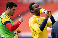 5th April 2021; Bet365 Stadium, Stoke, Staffordshire, England; English Football League Championship Football, Stoke City versus Millwall; John Obi Mikel of Stoke City takes a during during the warm up