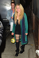 Avril Lavigne Has Dinner At Craig's In West Hollywood