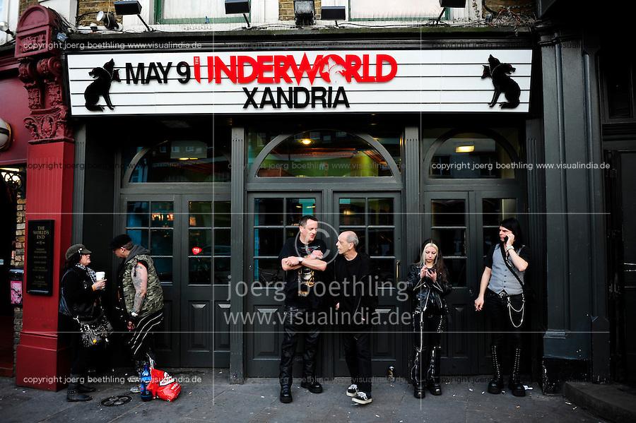 GREAT BRITAIN, London, club underworld in Camden / GROSSBRITANNIEN, London, Musikclub Underworld in Camden