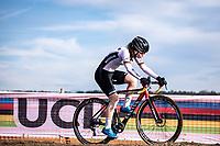 Clea Seidel (GER)<br /> <br /> Women's Junior race<br /> UCI 2020 Cyclocross World Championships<br /> Dübendorf / Switzerland<br /> <br /> ©kramon