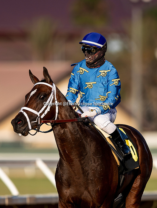 AUG 09: Smooth Like Straight with Umberto Rispoli win the La Jolla Stakes at Del Mar Thoroughbred Club in Del Mar, California on August 09, 2020. Evers/Eclipse Sportswire/CSM
