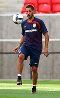 Clint Dempsey at USMNT practice at Rio Tinto Stadium in Salt LakeCity, Utah on September 4, 2009