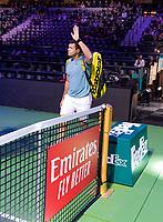 Rotterdam, The Netherlands, 14 Februari 2019, ABNAMRO World Tennis Tournament, Ahoy, Jo-Wilfried Tsonga (FRA), <br /> Photo: www.tennisimages.com/Henk Koster
