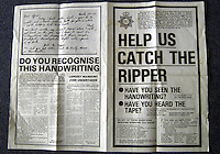 Pix: Barry Wilkinson/SWpix.com. The Yorkshire Ripper Archive. 14th May 1979 - 11th May1980...COPYRIGHT PICTURE>>SIMON WILKINSON>>0870 092 0092>>..Police Poster, regarding the Yorkshire Ripper.
