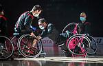 Chad Jassman and Colin Higgins, Tokyo 2020 - Wheelchair Basketball // Basketball en fauteuil roulant.<br /> Canada takes on Japan in a men's preliminary game // Le Canada affronte le Japon dans un match préliminaire masculin. 28/08/2021.