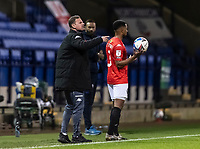 Salford City's manager Richie Wellens shouts<br /> <br /> Photographer Andrew Kearns/CameraSport<br /> <br /> The EFL Sky Bet League Two - Bolton Wanderers v Salford City - Friday 13th November 2020 - University of Bolton Stadium - Bolton<br /> <br /> World Copyright © 2020 CameraSport. All rights reserved. 43 Linden Ave. Countesthorpe. Leicester. England. LE8 5PG - Tel: +44 (0) 116 277 4147 - admin@camerasport.com - www.camerasport.com