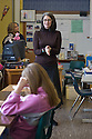 Karen Finneyfrock leads writing exercises in Kristin Nichol's classroom at Summit K-12, Seattle WA. [Writers in the Schools]