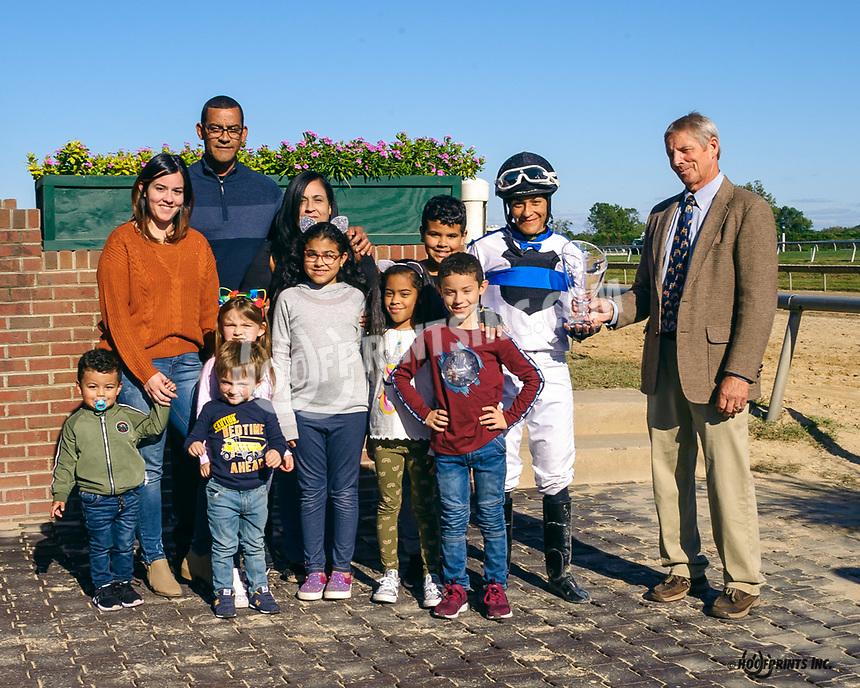 Carol Cedeno, leading rider at Delaware Park in 2019 with 77 wins