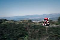 Jasper Stuyven (BEL/Trek-Segafredo) up the Col de Randa during a solo ride at the Trek-Segafredo Mallorca training camp <br /> <br /> January 2018