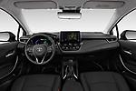 Stock photo of straight dashboard view of a 2019 Toyota Corolla Dynamic 4 Door Sedan