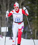 Sochi, RUSSIA - Mar 16 2014 - Margarita Gorbounova and her guide Andrea Bundon compete in Cross Country Skiing Women's 5km Free Visually Impaired at the 2014 Paralympic Winter Games in Sochi, Russia.  (Photo: Matthew Murnaghan/Canadian Paralympic Committee)