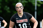 GER - Hannover, Germany, May 30: During the Women Lacrosse Playoffs 2015 match between DHC Hannover (black) and SC Frankfurt 1880 (red) on May 30, 2015 at Deutscher Hockey-Club Hannover e.V. in Hannover, Germany. Final score 23:3. (Photo by Dirk Markgraf / www.265-images.com) *** Local caption *** Bettina Wilhelm #10 of DHC Hannover
