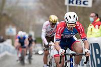 Anthony Turgis (FRA/Total Direct Energie) up the Oude Kwaremont<br /> <br /> 105th Ronde van Vlaanderen 2021 (MEN1.UWT)<br /> <br /> 1 day race from Antwerp to Oudenaarde (BEL/264km) <br /> <br /> ©kramon