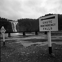 Chutes Montmorency vers 1950 (date exacte inconnue)