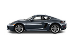 Car Driver side profile view of a 2017 Porsche 718 Cayman 3 Door Coupe Side View